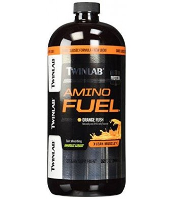 TwinLab 1156 Amino Fuel Liquid, Orange Rush, 32 fl oz