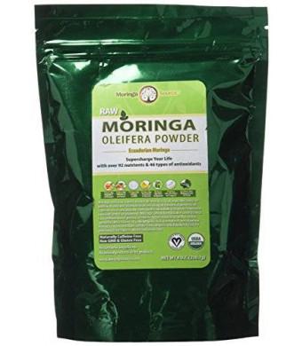 Moringa Source Moringa Oleifera Leaf Powder - USDA Organic - 1/2 lb