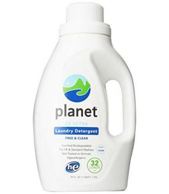 Planet 2x HE Ultra Laundry Liquid Detergent, 32-Loads, 50 Ounce Bottle