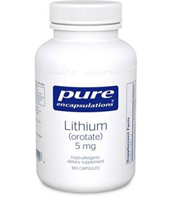Pure Encapsulations - Lithium (Orotate) 5mg 180's (FFP)