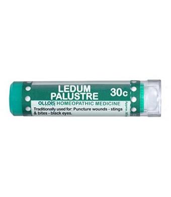 Ollois Lactose Free Homeopathic Medicines, Ledum Palustre 30C Pellets, 80 Count