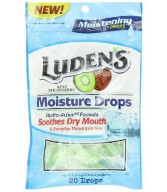 Ludens Moisture Drops, 20 Count