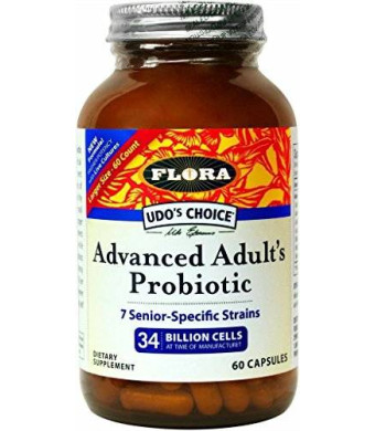 Flora Udo's Choice - Advanced Adult's Blend Probiotic Capsules - 60 count
