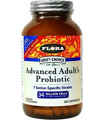 Flora Udo's Choice - Advanced Adult's Blend Probiotic Capsules - 60 count