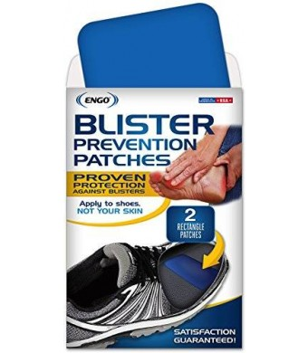 ENGO Rectangle Blister Prevention Patches (2 Count)- Shoes, Skates, Helmets, Equipment, Hockey
