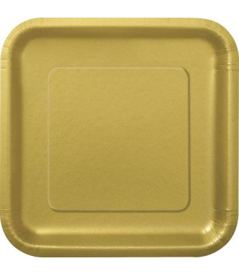 Unique Square Gold Dessert Plates, 16ct