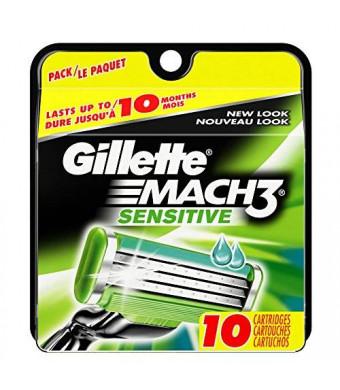 Gillette Mach3 Sensitive Cartridges 10 Count