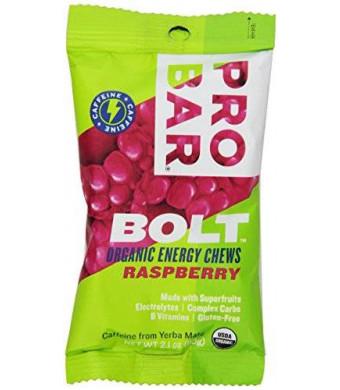 Probar Bolt Organic Energy Chews, Raspberry, 2.1 Ounce (Pack of 12)