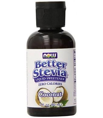Now Foods Better Stevia Liquid, Coconut Liquid, 2 Fluid Ounce