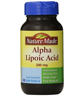 Nature Made Alpha Lipoic Acid Softgel, 200 mg, 30 Count