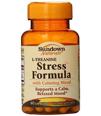 Sundown Naturals L-Theanine Stress Formula Capsules, 60 Count
