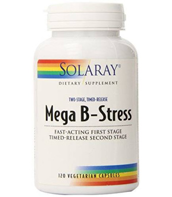 Solaray Mega B Stress Two Stage Timed Release Supplement, 120 Count