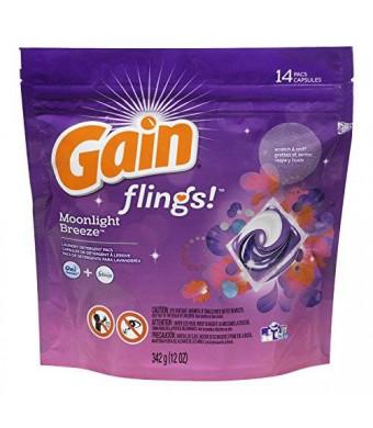 Gain Flings Moonlight Breeze Laundry Detergent Pacs 14 Count