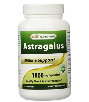 Astragalus Extract 1000 Mg 120 Capsules By Best Naturals