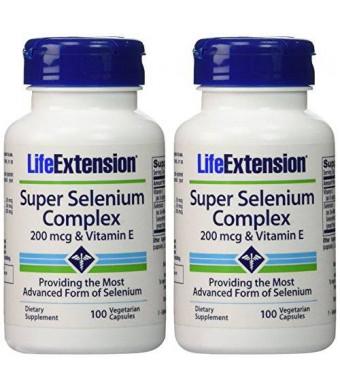 Life Extension - Super Selenium Complex and Vitamin E - 200 Mcg - 100 Vcaps (200 VCAPS)