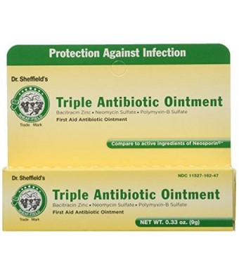 DoubleNet Dr. Sheffield's Triple Antibiotic Ointment .33 ounce tube (3 Pack)