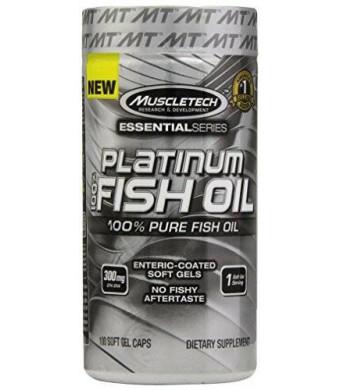 MuscleTech Platinum 100% Fish Oil, 100 Count