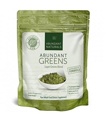 Abundant Naturals Raw ORGANIC Green Superfood Powder