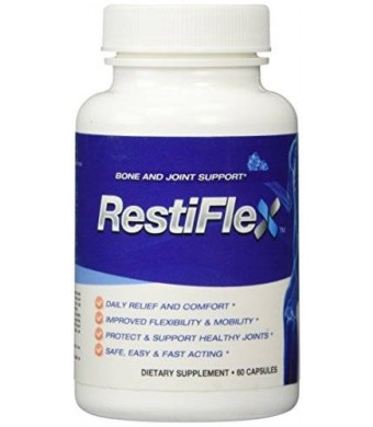 Restiflex Natural Egg Shell Membrane Bone and Joint Support Dietary Supplement, 60 Soft Capsules