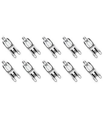 12Vmonster  iLLumi Projections * 10 Pack * CLEAR LENSE G9 40watt 120v halogen light bulbs JCD Type 110v 130v lamp 40W t4 G9 120 volt BRIGHT