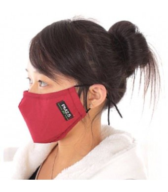 ZWZCYZ 2014 New Unisex Adult PM 2.5 pollen dust mask Washable Activated carbon filter into /Three-dimensional cotton masks (Wine Red)