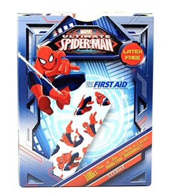 Marvel Children's Adhesive Bandages - Spiderman - Box of 100