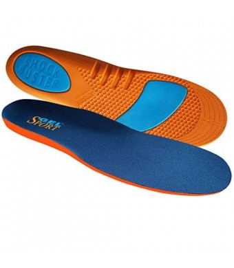 JobSite Gel Sport Insoles - Gel Heel Shock Buster and Comfort Forefoot Gel Cushion - Help Prevent Everyday Foot Pain