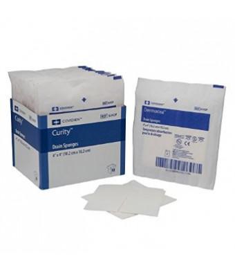 """Covidien 6242P Dermacea Drain Sponge, Sterile 2's in Peel-Back Package, 4"""" x 4"""", 6-ply (Pack of 50)"""