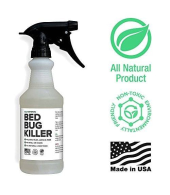 Bed Bug Spray By Killer Green - Best Non-Toxic All Natural Killer and Treatment of Bedbugs.