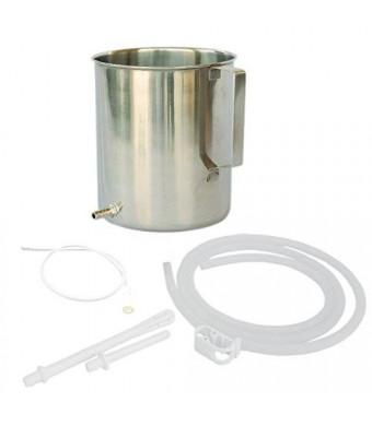 HealthGoodsIn High Grade  Stainless Steel Enema Kit (1.5 Quart) with Medical Grade  Silicone Hose