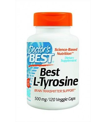 Doctor's Best L-Tyrosine Supplement, 120 Count