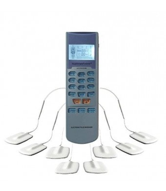 HealthmateForever Handheld Tens Unit 15 Mode Electronic Pulse Massager-palm digital personal powerful hand held massagers electric pulse stimulator