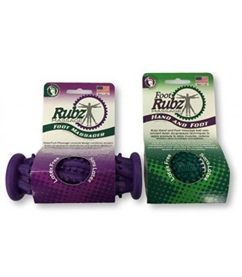 Due North Foot Rubz Combo Pack, Original Foot Rubz and Foot Massage Roller,0.6 Pound