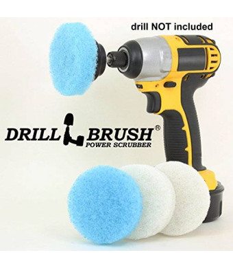 Drillbrush 3 inch Round Scouring Pads Electric Scrubber Kit