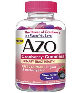 AZO Cranberry Gummies, 72 Count