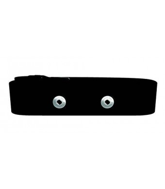 HRM Heart Rate Monitor USA Replacement Soft Strap (Works with Polar and Garmin Transmitters) (Med/XXL)