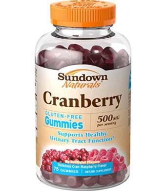 Sundown Naturals Cranberry 500 mg Gummies, 75 Count