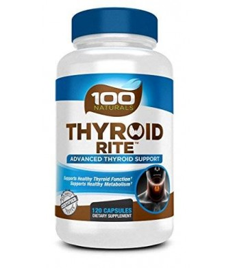 100 Naturals Thyroid Rite: Thyroid Supplement to Support Healthy Thyroid Function and Metabolism (120 Caps). with Schizandra