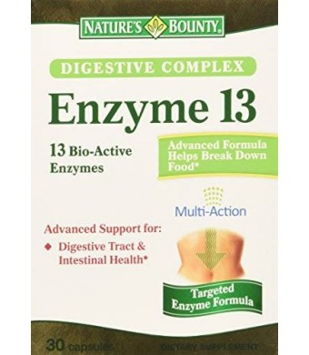 Nature's Bounty Natures Bounty Digestive Complex Enzyme 13 Capsules, 30 Count