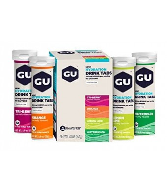 GU Energy Labs GU Hydration Drink Tabs, Mixed, 4 Count