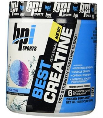 BPI Sports Best Creatine Snowcone Flavor 50 Servings