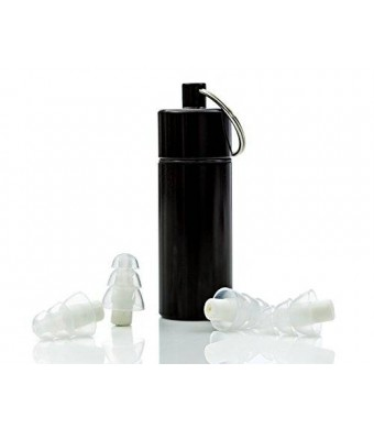 NU Ear Plugs - High Fidelity and Discreet Earplugs for Musicians, Travel, Motorcycles, Concerts, Festivals, Drummers and Percussion - Comfortable Silicone, Aluminum Case, Variable Loud Sound Protection