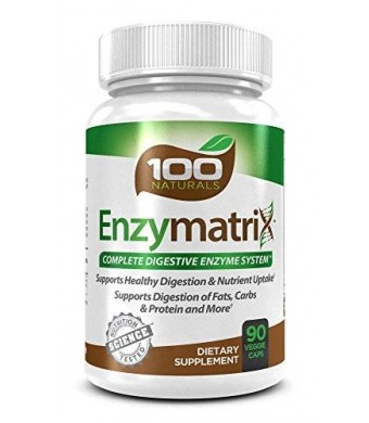 100 Naturals Enzymatrix: Complete Digestive Enzyme System