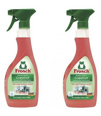 Frosch Grapefruit Kitchen Cleaner Spray Bottle, 500ml (Pack of 2)