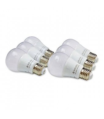 Verbatim A19 6-Pack Warm White 3000K LED Bulb, Replaces 60W, Non-Dimmable 99072