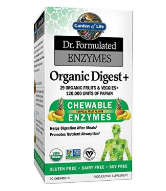 Garden Of Life Dr. Formulated Enzymes Organic Digest Plus, 90 Count