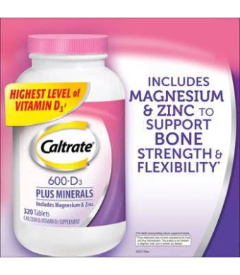 Caltrate 600mg+ D with Minerals. 320 Count.