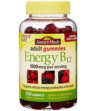 Nature Made Adult Gummies Energy B-12 Value Size-150 ct