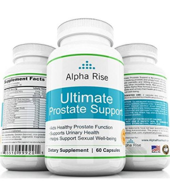 Alpha Rise Prostate Health TOP RATED Prostate Supplement