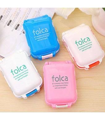 Graces Dawn Folca Portable Pill Case Box 4 Pack